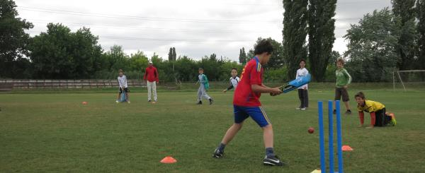 Children playing cricket at KAC
